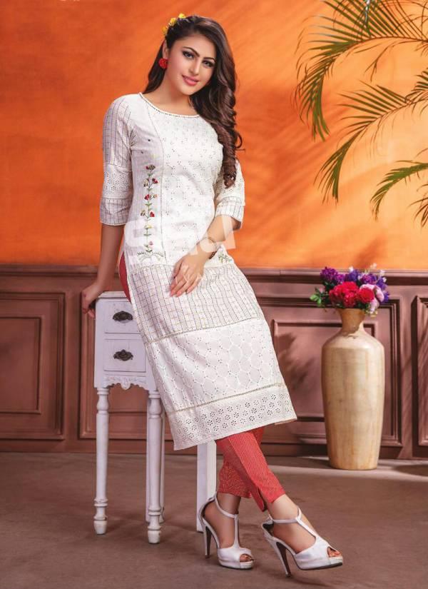 S4U Schiffli Vol 1 Series 001-007 Fancy Stylish Fabric Party wear Kurti Collection