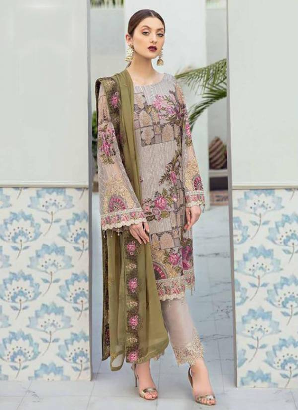 Shree Fab Serene Premium Embroderd Vol 4 Series 1378-1383 Georgette With Heavy Embroidery Work Pakistani Suits Collection
