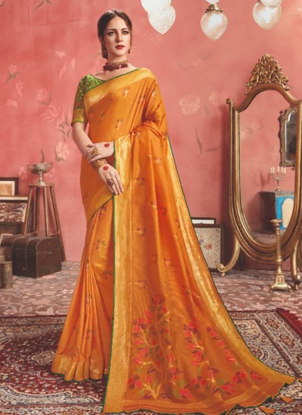 Kessi Shagun Series 5031-5040 Traditional Wear Silk Latest Sarees Collection