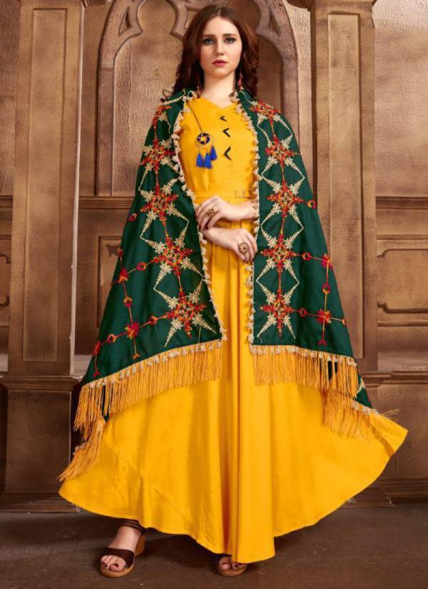 Fashion-Valley-Dresses-Shalni-Vol-1-Series-101-106-Rayon-Long-Kurti-With-Fancy-Embroidery-Work-Dupatta-Collection
