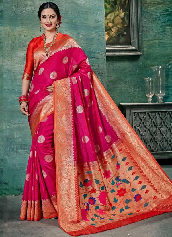 Takshaya Shivaya Series 1001-1006 Exclusive Party Wear & Wedding Wear Silk Art Sarees Collection