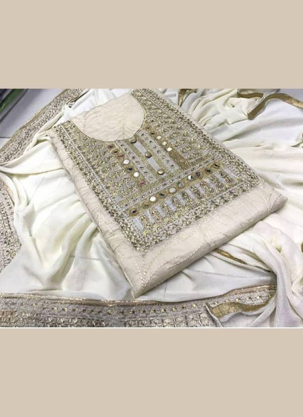 Shree Bherav Suits Series 1-3 Chaderi Mirror And Jari Work Festival Wear Dress Material  Suits Collection