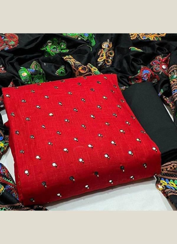 Shree Bherav Suits Series N1-N5 Pc Cotton Stylish Mirror Work  Non Catalog Salwar Suit Collection