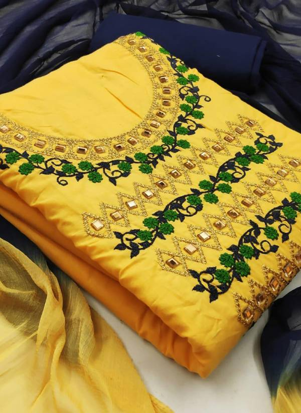 Shree Bherav suits Series Sb1-Sb4 Pc Cotton Designer Multi Work Diamond Treandy Non Catalog Suits Collection