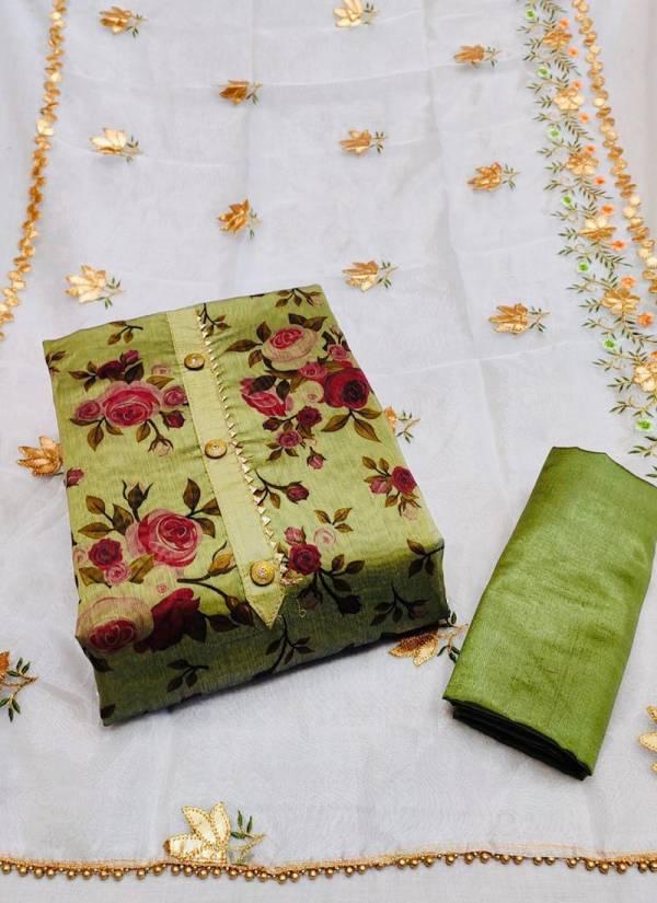 Shree Bherav Suits Series Sm1-Sm4 Semi Modal Exclusive Gotta Patti Work Dress Material Non Catalog Suits Collection