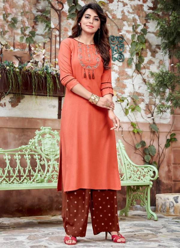 Ladies Flavour Signature Vol 3 Rayon With Embroidery Work Designer Kurti Collection
