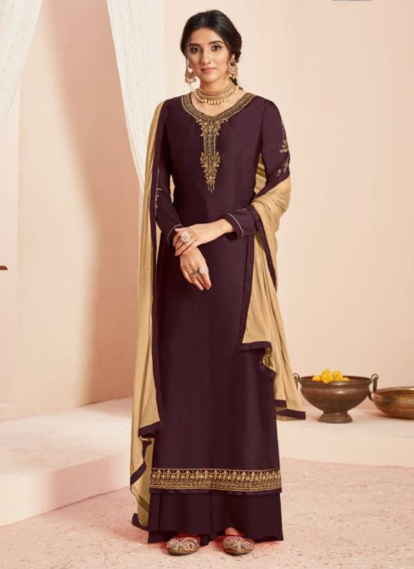 Alisa Simar Series 5101-5106 New Designer Satin Georgette With Heavy Embroidery & Additional Diamond Work Festival Wear Salwar Suits Collection
