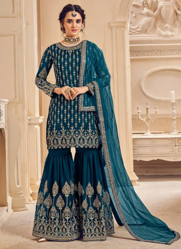 Kesari Trendz Simran Vol 2 Series 5008-5010 Blooming Georgette With Heavy Embroideruy Work Party wear Suits Collection