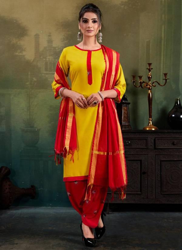 Banwery Soni Kudi Series 1001-1004 Rayon Stylish Regular Wear Suits Collection