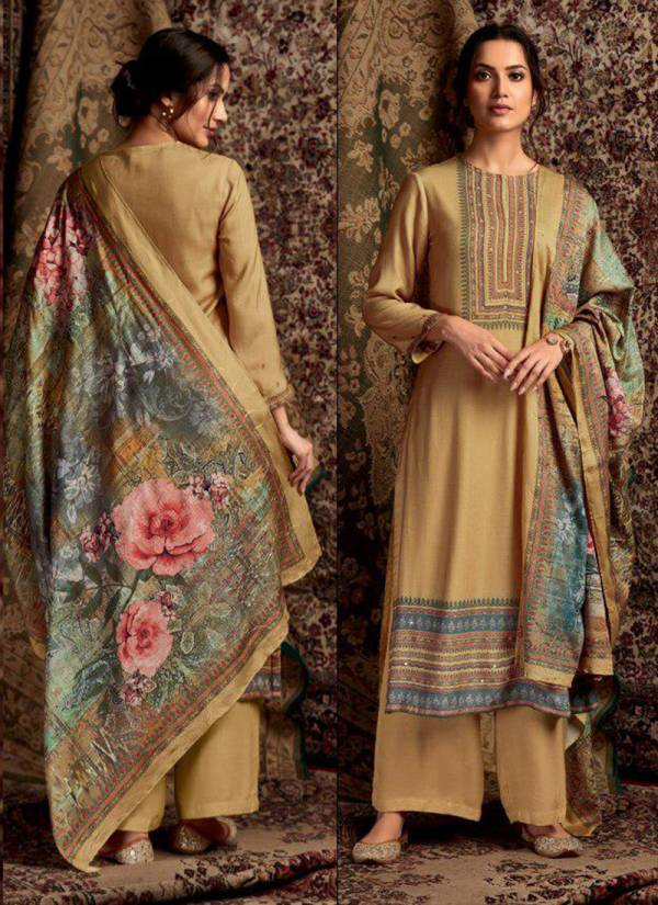 Itrana Soraya Series 201-299 Stylish Look Pure Pashmina Digital Prints With Mirror Work Suits Collection