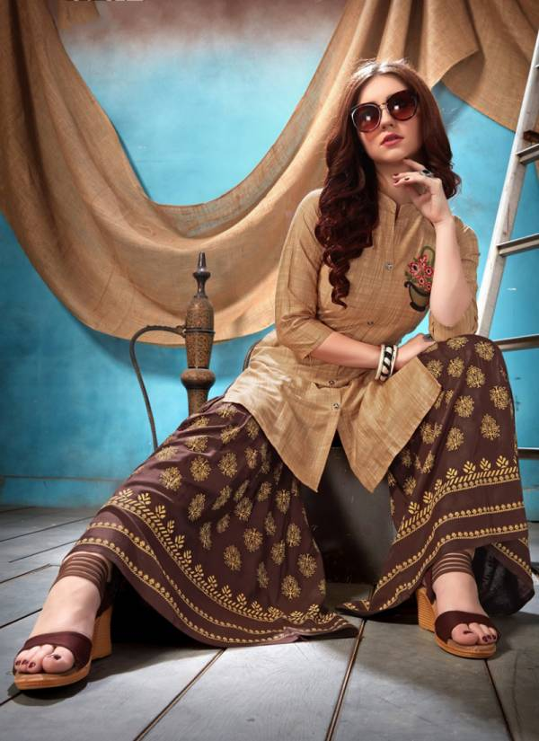 Style In Cotton Satin With Different Embroidery Work New Kurti Collection 101-108