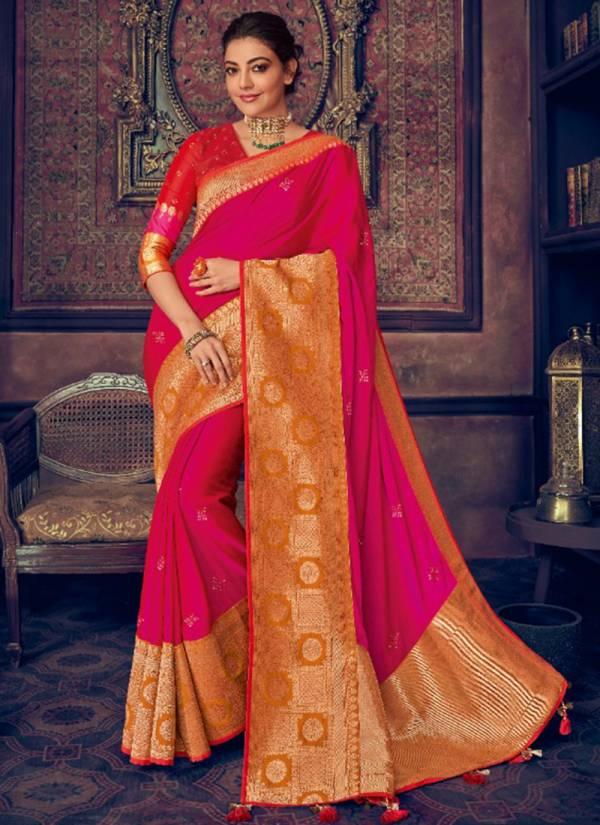 Kimora Sunehri Vol 13 Series 1301-1306 Latest New Designer Fantasy Silk Party Wear Sarees Collection