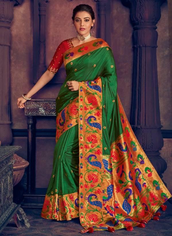 Kimora Sunehri Vol 13 Series 1307-1312 Latest New Designer Fantasy Silk Party Wear Sarees Collection