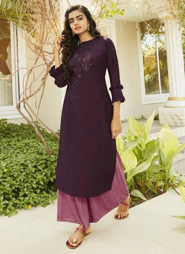Kajree Fashion Superb Series 12085-12090 New Design Party Wear Lining With Stylish Hand Work Kurti palazzo Collection