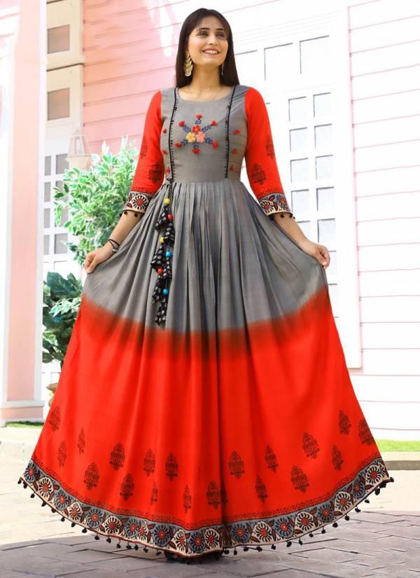 Aradhna-Taj-Vol-4-Series-4001-4010-Heavy-Rayon-&-Heavy-Cotton-Print-With-Odinary-Print-And-Embroidery-Work-Long-Kurti-Collection