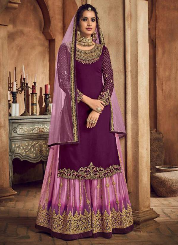 Kesari Trendz Taj Vol 1 Series 3001-3006 Georgette With Embroidery & Diamond Work Suits With Readymade Palazzo Collection