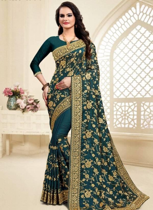 Utsav Nari Tanupriya Series 691-703 Heavy Jaei Embroideru Work With Heavy Stone Work Reception Wear Sarees Collection