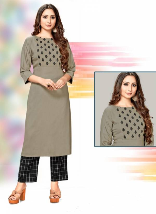Channel 9 Tapsee Series 1001-1004 Rayon Kurti With Embroidery Work Stylish Collection