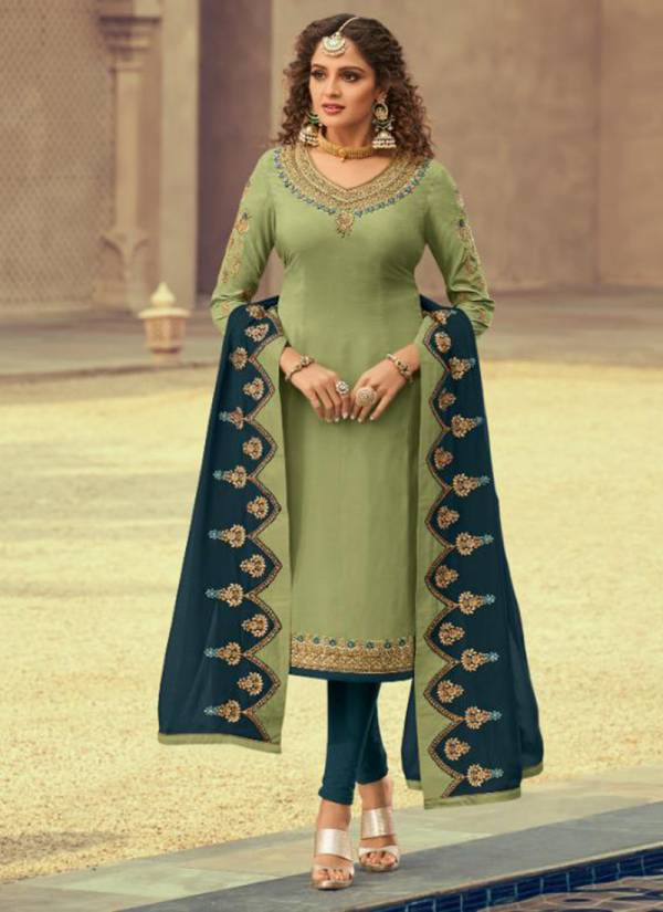 Shree Fabs Tehzeeb Series 7001-7005 Georgette Satin With Exclusive Embroidery Work Wedding Wear Suits Collection