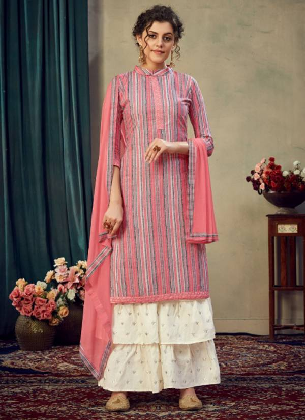 Kaara Tik Tok Series 1001-1004 Jaam Satin Print With Fancy Embroidery Work Suits Collection