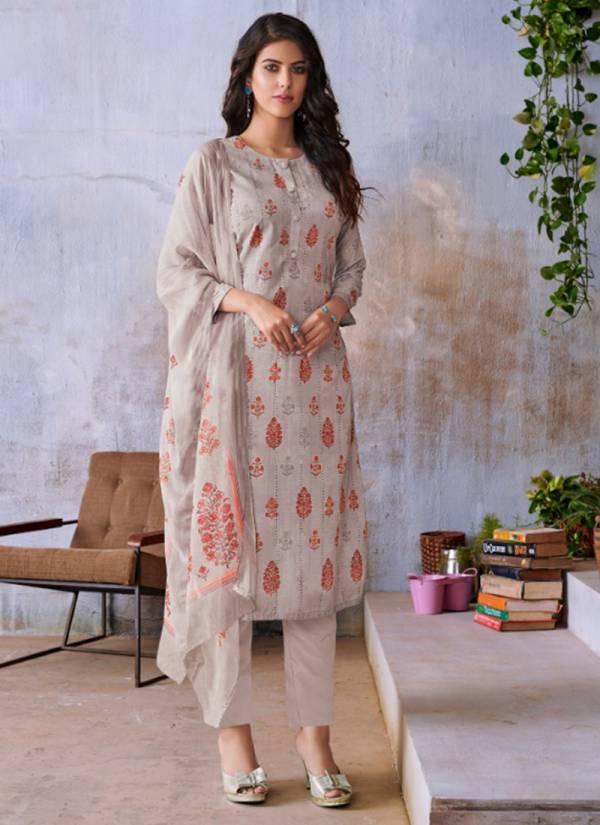 Karma Tucute Series 846-853 Muslin Schiffli Work Digital Print Top With Full Sitch Bottom Salwar Suits Collection