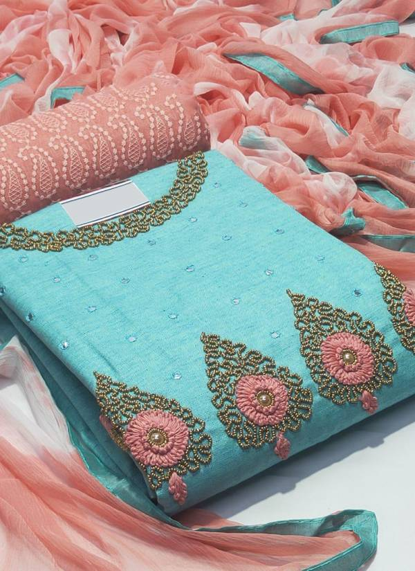 VT Designer Series 30-33 Linen Cotton With Hand Work Stylish Look Non Catalog Suits Collection