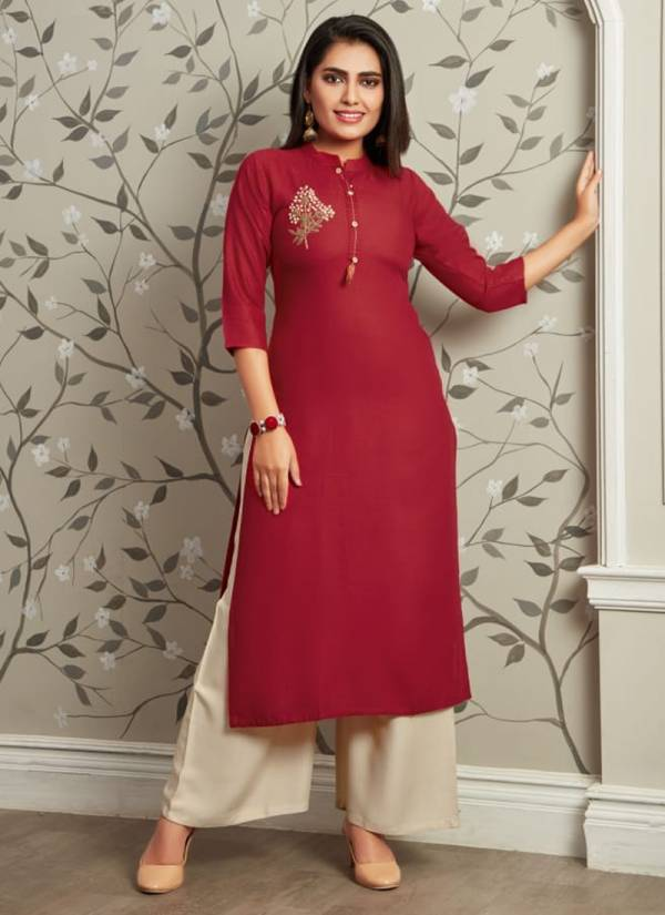Tips-&-Tops-Vastra-Series-1001-1006-Fancy-Rayon-Heavy-Hand-Work-Party-Wear-Kurti-Palazzo-Collection