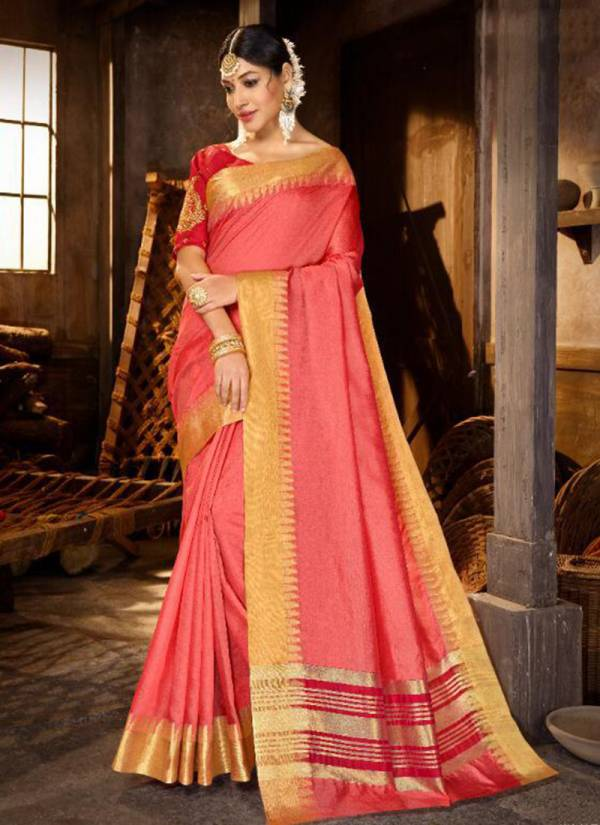 Vernika Crystal Gala Border With Work Blouse Ethnic Wear Saree Wholesaler Collection 66521-66526