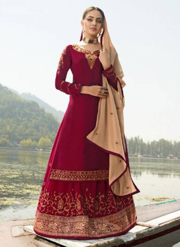 Alisa Zarina Series 5301-5306 Satin Georgette With Hand Work Long Fancy Reception Wear Suits Collection