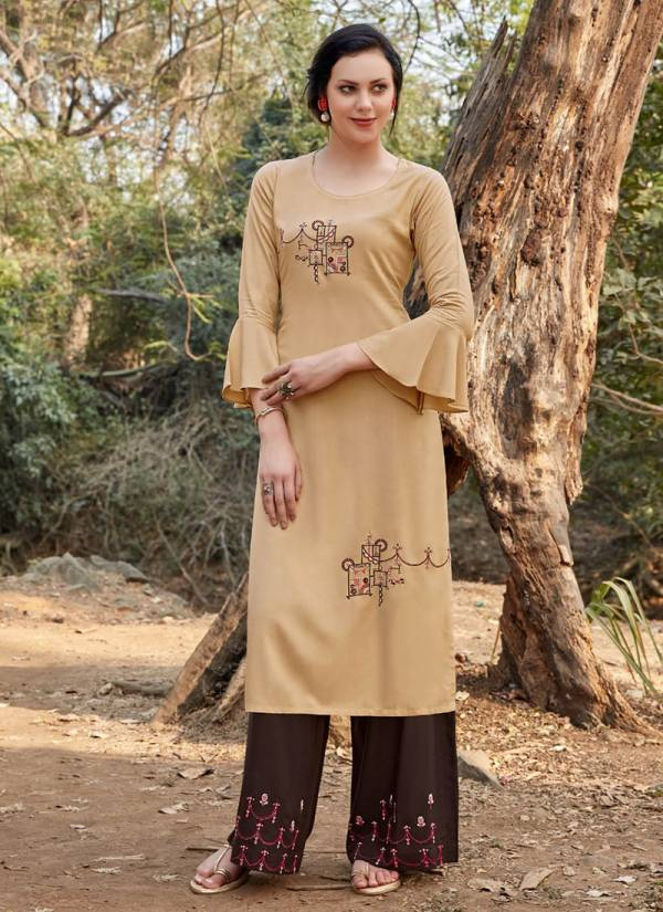 Paraa Studio Zoly Series 2001-2006 Pure Rayon With Embroidery Work Kitty Party Kurti With Palazzo Collection