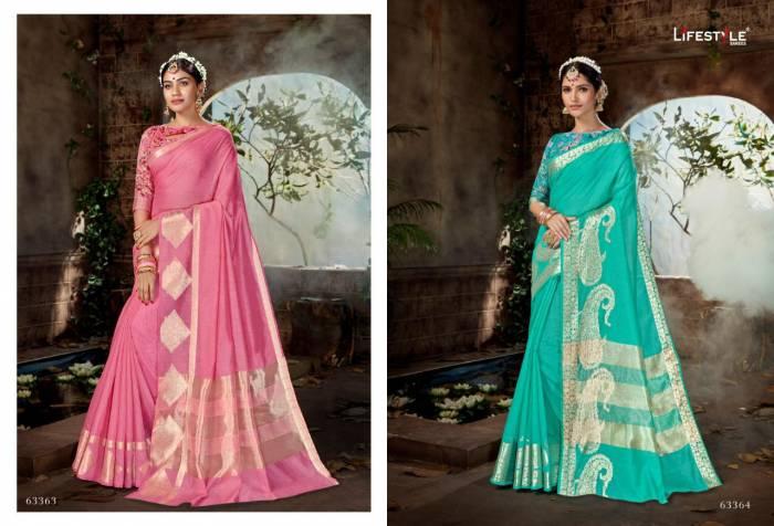 Lifestyle Saree Nidhi 63363-63364