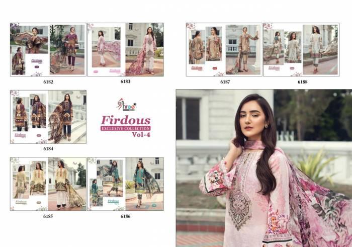 Shree Fabs Firdous Exclusive Collection 6182-6188