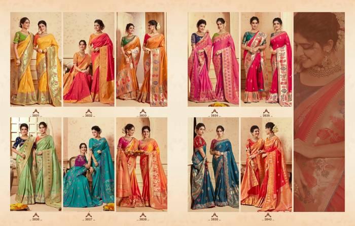 Kessi Fabric Saree Saugat Silk 3831-3840