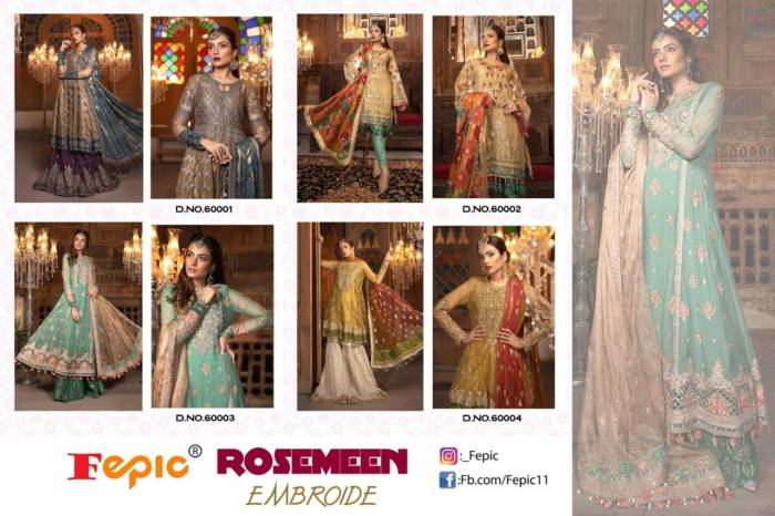 Fepic Rosemeen Embroide 60001-60004