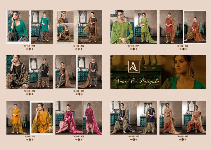 Alok Suit Gulzar 432-001-432-010