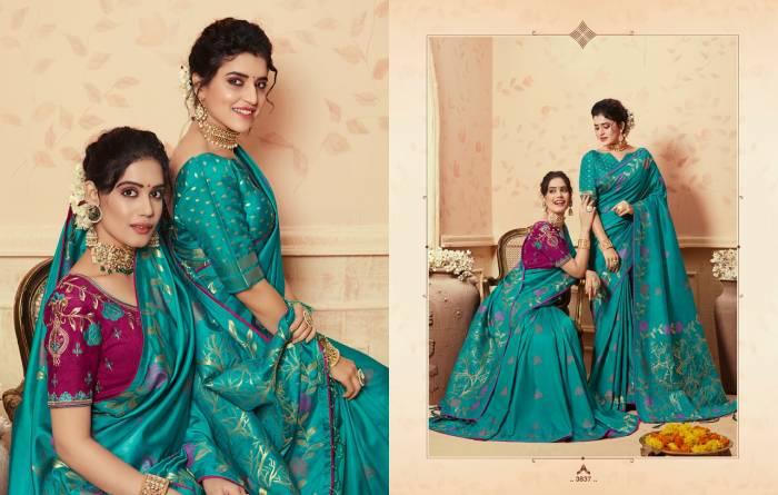 Kessi Fabric Saree Saugat Silk 3837