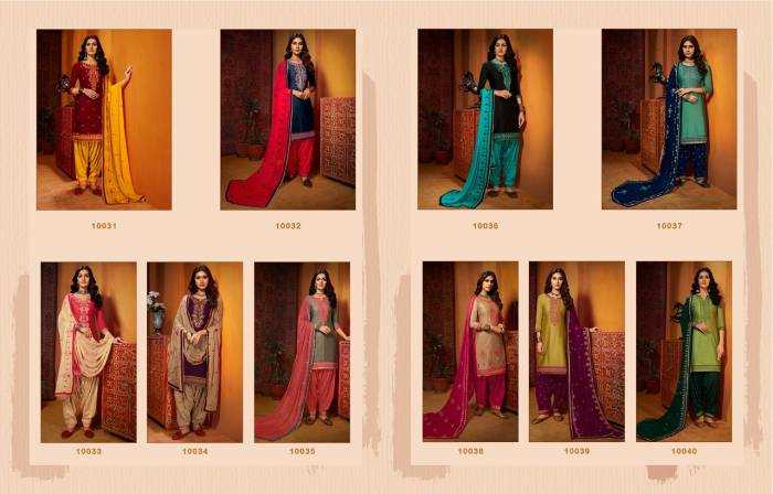 Kajree Fashion Of Patiyala 10031-10040