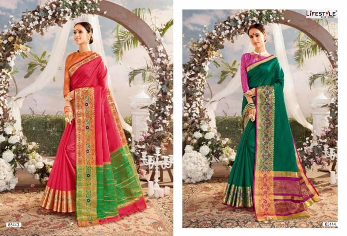 Lifestyle Saree Resham Silk NX 65443-65444