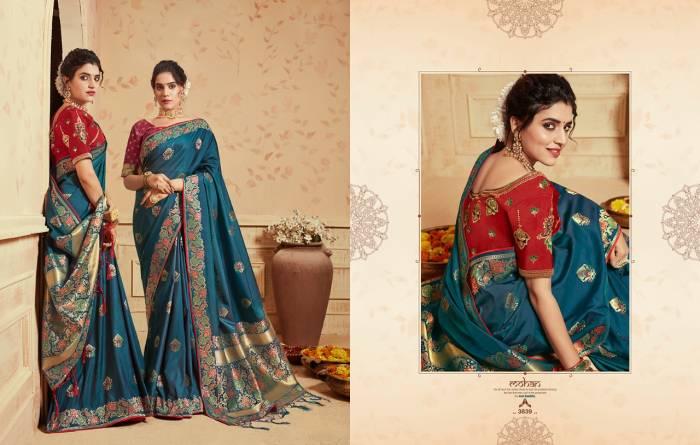 Kessi Fabric Saree Saugat Silk 3839