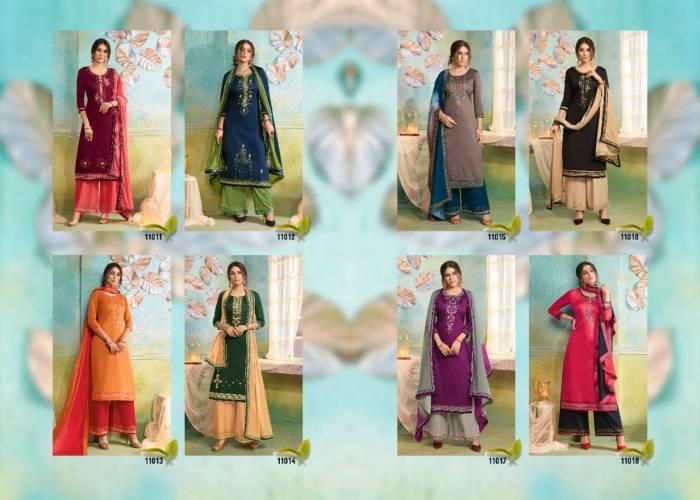 Kessi Fabrics Poshak 11011-11018