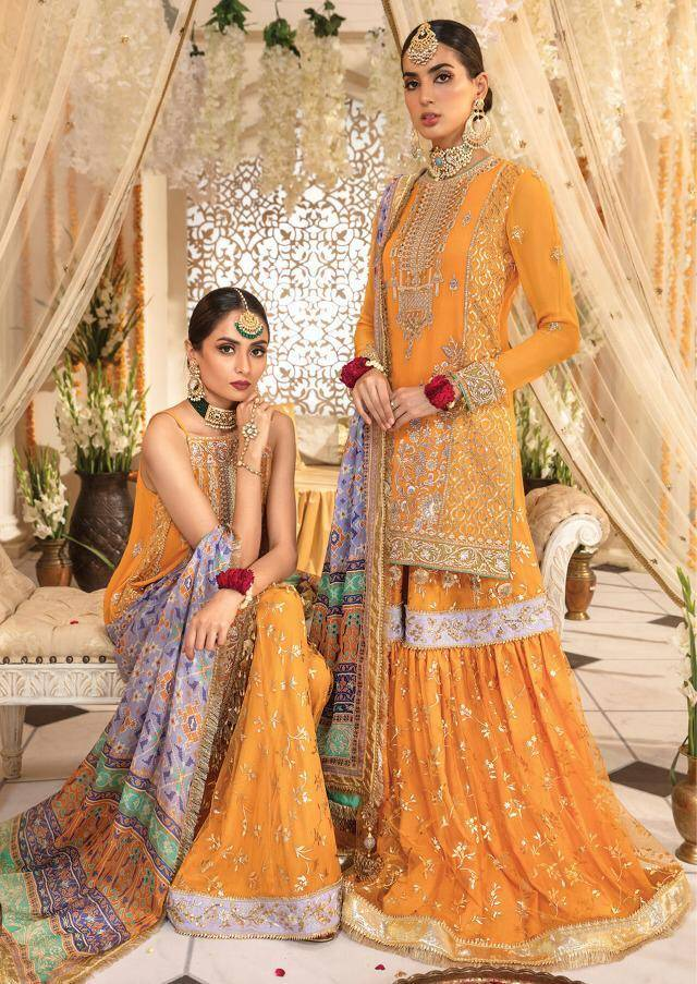 Shraddha Designer Anaya Mehndi Collection 1001