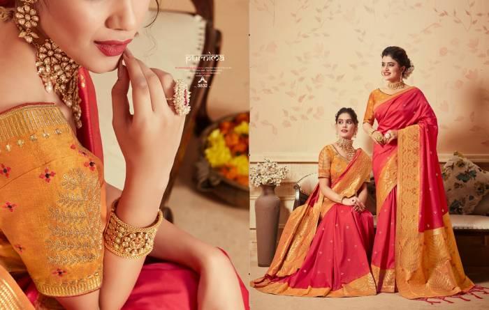 Kessi Fabric Saree Saugat Silk 3832