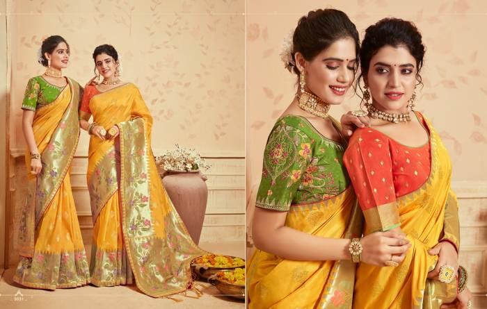 Kessi Fabric Saree Saugat Silk 3831