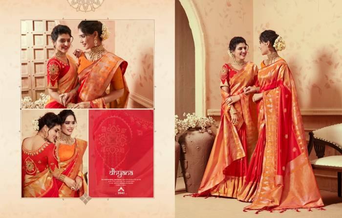 Kessi Fabric Saree Saugat Silk 3840