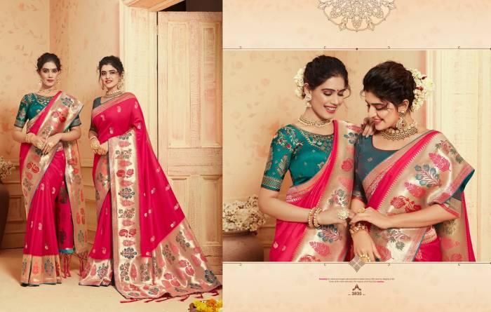 Kessi Fabric Saree Saugat Silk 3835